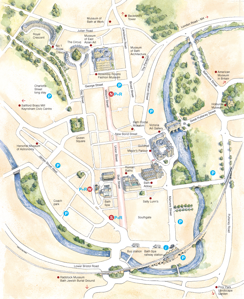 Image: Map of Bath city centre