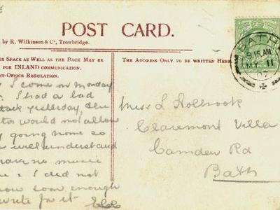 Image: A postcard from the Bath Postal Museum collection